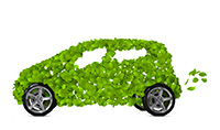 car made of leaves